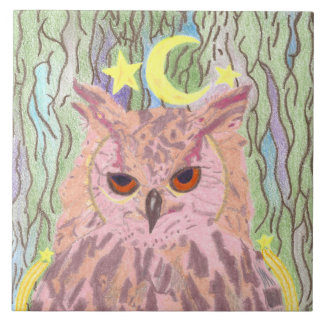 Queen of the Night Girly Owl Tile
