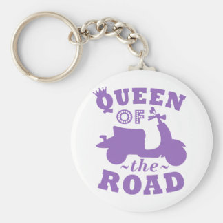 Queen of the Road - Purple Key Ring