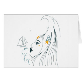 Queen of the seas greeting card