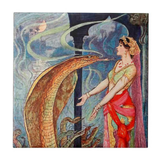 Queen of the Snakes Small Square Tile
