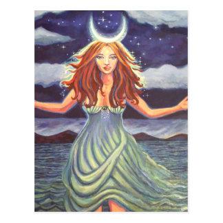 Queen Of The Tides - Goddess Art Postcard