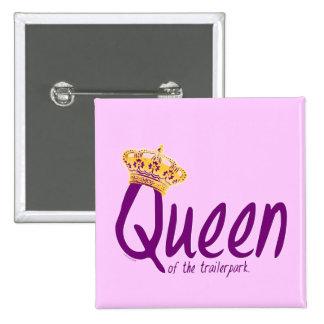 Queen of the Trailerpark 15 Cm Square Badge