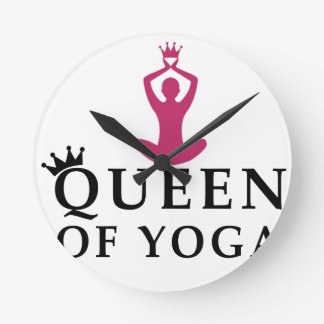 queen of yoga crown round clock