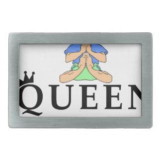queen of yoga rectangular belt buckles