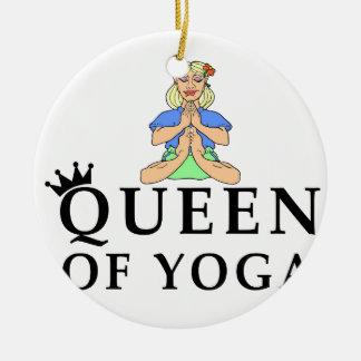 queen of yoga round ceramic decoration