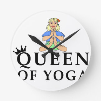 queen of yoga round clock