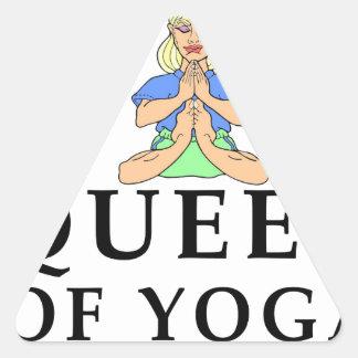 queen of yoga triangle sticker