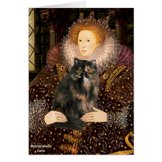 Queen - Persian Calico cat Card