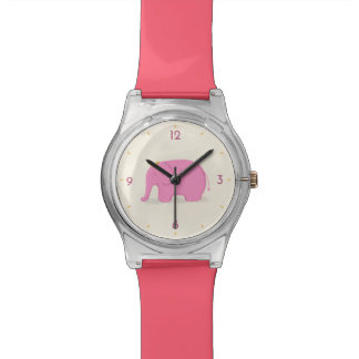 Queen Pink Elephant Wrist Watches