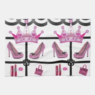 queen pink kitchen towel