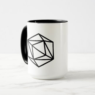 Queen (positive) / Black 444 ml  Ringer Combo Mug