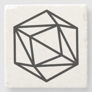Queen (positive) / Marble Stone Coaster