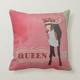 Queen Pretty Pink Fawn Mojo Pillow
