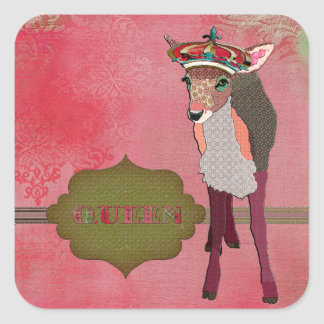 Queen Pretty Pink Fawn Sticker
