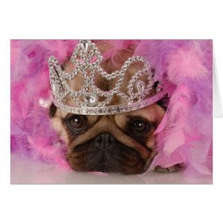 Queen Pug Card