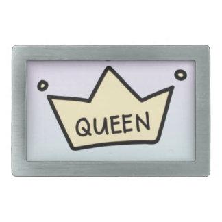 queen rectangular belt buckle