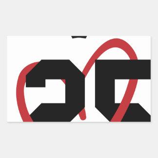 Queen Rectangular Sticker