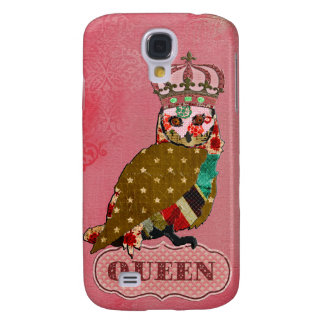 Queen Rose Owl Pink  Samsung Galaxy S4 Cases