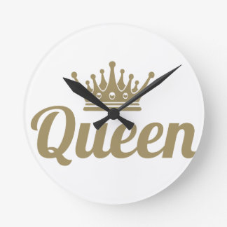 Queen Round Clock