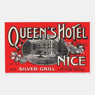 Queen S Hotel Nice Rectangular Sticker