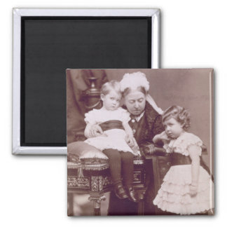 Queen Victoria (1819-1901) with her grandchildren, Square Magnet