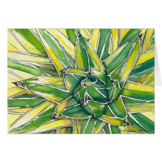 Queen Victoria Agave Watercolor by DLB Card