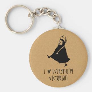 Queen Victoria Basic Round Button Key Ring