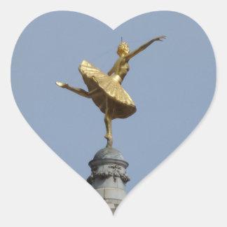 Queen Victoria Heart Sticker
