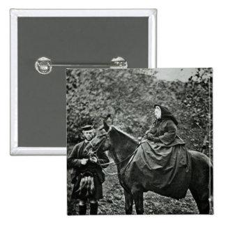 Queen Victoria  on horseback at Balmoral , 1863 15 Cm Square Badge