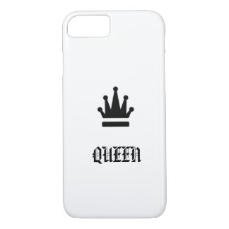 Queen with crown monochrome design iPhone 8/7 case