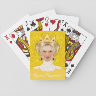 Queen with custom face play cards