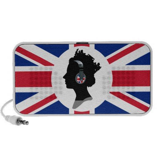 QUEEN WITH HEADPHONES (BRITISH FLAG) Speaker