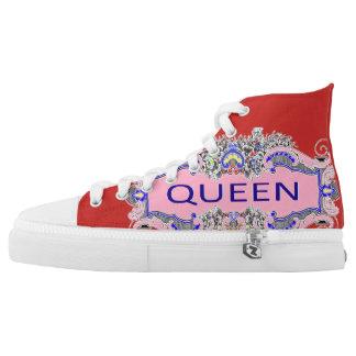 QUEEN Zips High Top Shoes