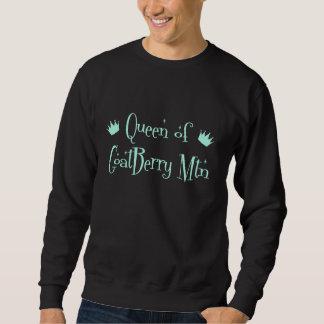 QueenOfGoatBerryMtn-aqua Sweatshirt
