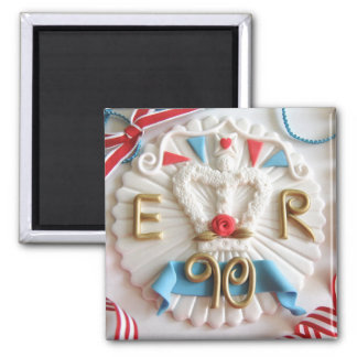 Queen's 90th Birthday Celebration Fridge Magnet