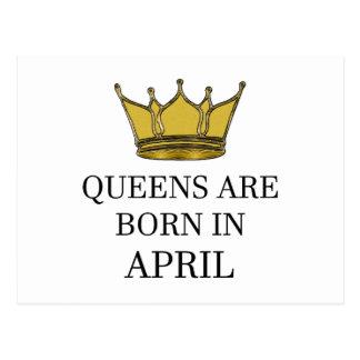 Queens Are Born In April Postcard