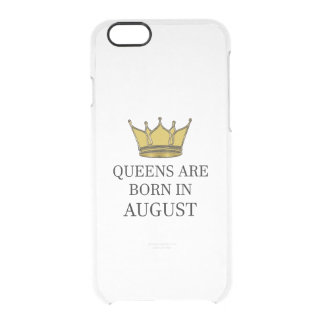 Queens Are Born In August Clear iPhone 6/6S Case