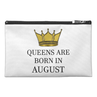 Queens Are Born In August Travel Accessory Bag