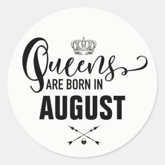 Queens Are Born In Classic Round Sticker