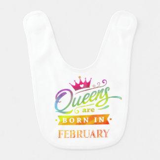 Queens are born in February Birthday Gift Bib