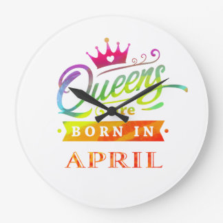 Queens are born in February Birthday Gift Large Clock