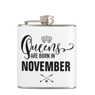 Queens Are Born In Hip Flask