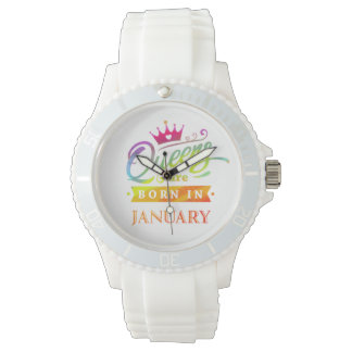 Queens are born in January Birthday Gift Watch