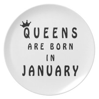 Queens Are Born In January Plate