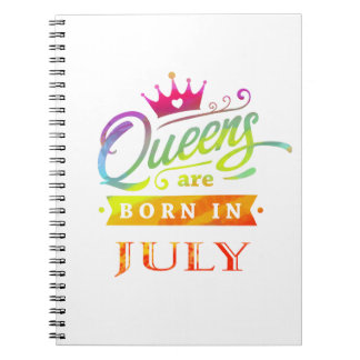 Queens are born in July Birthday Gift Notebook