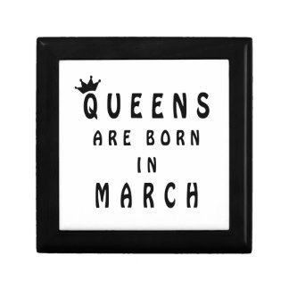 Queens Are Born In March Gift Box