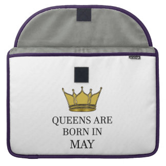 Queens Are Born In May Sleeve For MacBooks