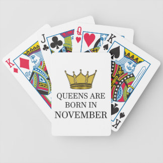 Queens Are Born In November Bicycle Playing Cards