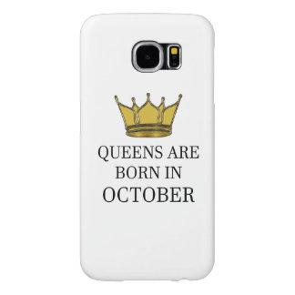 Queens Are Born In October Samsung Galaxy S6 Cases