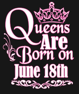 Queens Are Born On June 18th Funny Birthday T Shirt